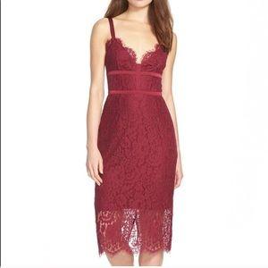 Keepsake Magenta Lace Dress
